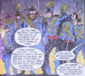 Elven Navy Officers.  Image from the Spelljammer comic.